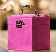 caixa Fhree camadas cosméticos flanela (entrega cor aleatória)