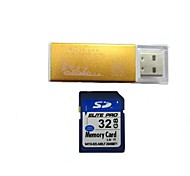 32GB Class 10 SD SDHC Memory Card and USB Card Reader