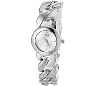 Women's Delicate Round Dial Wide Steel Band Bracelet Watch (Assorted Colors) Cool Watches Unique Watches