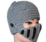 Männer Helmtyp grau schwarz Strickmütze