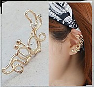Ear Cuffs Alloy Simulated Diamond Simple Style Silver Golden Jewelry