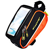 Bike Frame Bag / Cell Phone Bag Cycling/Bike For Quick Dry / Rain-Proof / Dust Proof / Shockproof / Wearable / Touch Screen , Orange ,