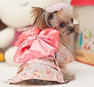 All Seasons Wedding / Cosplay Nylon Dresses for Dogs Pink XS / S / M / L / XL