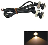 Carking™ 12V 1.5W 18MM Auto Car  LED Eagle Eye DayTime Running Light Reverse Lamp-Yellow Light