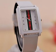 Women's Fashion Simple Drill Square Three Color Stripe Watches(Assorted Colors)