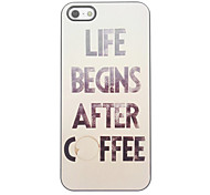 Coffee Design Aluminium Hard Case for iPhone 4/4S