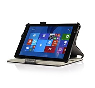 """Heat Setting Hard Back Leather Stand Case for Dell Venue 8"""" Pro Windows 8.1 Tablet"""