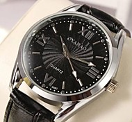 Men's Fashion Atmosphere Waterproof Leather Belt Watch
