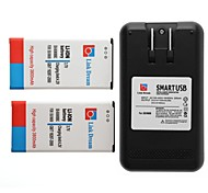 Link Dream  2 x Cell Phone Battery+Charger  for Samsung Galaxy S5 9600 (3800 mAh)