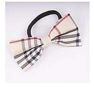 Fashion Plaid Bowknot Fabric Hair Ties Random Delivery