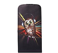 Listen to Music Owl Pattern Flip-open PU Leather Cover with Card Slot for iPhone 6