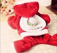 Mode für Haustiere schönen Weihnachtsmann vier Füßen Kleidungsstück für Haustiere Hunde (verschiedene Größen)