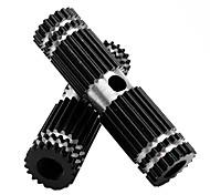 MOON 1 Pair BMX Bike Aluminum Alloy Rear Front Axle Black Solid Foot Pegs