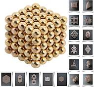125pcs 5mm DIY Buckyballs and Buckycubes Magnetic Blocks Balls Toys Golden