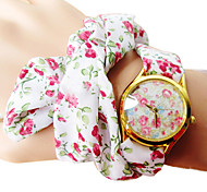 Women's Flower Pattern Handkerchief Style Quartz Wrist Watch
