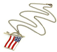 Flag Long Necklace