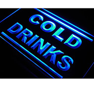 Cold Drinks Cafe Beer Pub Club Neon Light Sign
