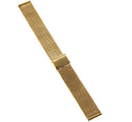 18mm High Quality Elegant Black/Gold Stainless Steel Watchband