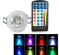 RGB LED Ceiling Spot Light With 24-Key IR Remote Controller (AC 85~265V)280lm 5W