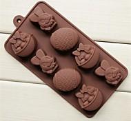 Пасхальный кролик корзины форма яйца торт льда желе для шоколада, силиконовые 20,8 × 10,5 × 2,8 см (8,2 × 4,1 × 1,1 дюйма)