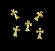 10pcs   Golden Crossing Finger Tips Accessories Nail Art Decoration
