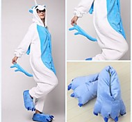 Blue Unicorn Coral Fleece Adult Kigurumi Pajama Suit (with Slippers)