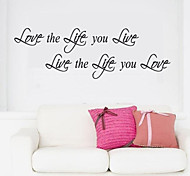 JiuBai™ Life Quote Wall Sticker Wall Decal