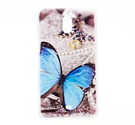 Kinston Blue Butterfly Pattern Plastic Hard Case for Nokia Lumia 1320