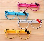 Bowknot Glasses Shaped Plastic Ballpoint Pen(Random Color x6pcs)