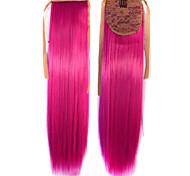 Горячий продавать Peny клипы Хвост Цвет волос Цветной Red Bar Оптовая выдвижения волос фуксия милый сексуальный