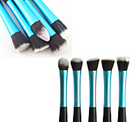 1PCS Light Blue Nylon Hair Aluminium Handle Makeup Blusher/Foundation/Powder Brush(Random Type,17x3x2cm)