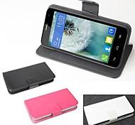 vendita calda cassa di cuoio dell'unità di elaborazione del cuoio di vibrazione 100% per Alcatel One Touch iodl mini 6012x / 6012a / 6012w (colori