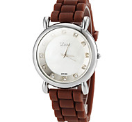 Women's Simple Round Dial Silicone Band Quartz Analog Casual Watch (Assorted Colors)