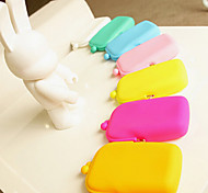Jelly Rubber Silicone Cosmetic Makeup Bag Unisex Coin Purses Wallets Candy Color