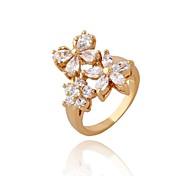 Women New Style Fashion Hot White Butterfly Flower Zircon Rings