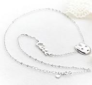 Classic Good Rabbit925 Silver Plated Platinum Necklace (1 Pc)
