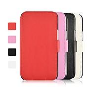 angibabe 2 plegable de la caja del cuero de grano litchi soporte para Samsung Galaxy Note N7100 2 (colores surtidos)