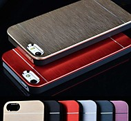 VORMOR® Metal Aluminum Brushed & PC Hard Back Case for iPhone 4/4S (Assorted Colors)