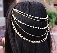 shixin® klassischen Perlenhandarbeit Quaste goldenen Stirnband (1 PC)