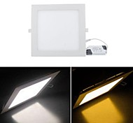18 W 1 SMD 3528 1680 LM Warm White/Cool White Panel Lights AC 85-265 V