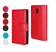 estojo rígido padrão de cor sólida, com fecho magnético e slot para cartão para LG Optimus L3 II (cores sortidas)