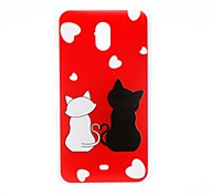 Kinston Romantic Cat Pattern Plastic Hard Case for Nokia Lumia 1320