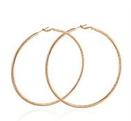Women's Trendy Big Size Style 18K Gold Plated Earrings