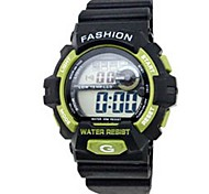 Men's Sporty  Digital Silicone Band Wrist Watch(Assorted Colors)