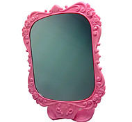 Pink Comestic Mirror with Rose Pattern