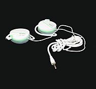 GENIPU-8809 Hi-Fi Super Bass Crystal Sound Clip-on Earphones -White