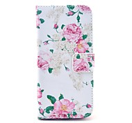 The Blooming Flowers Pattern PU Leather Full Body Case for iPhone 6