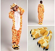 anaranjada linda jirafa coral polar adulto pijama kigurumi (con zapatillas)