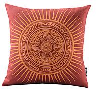 rossetto rosso sole in cotone / copertura del cuscino decorativo biancheria