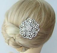 lega dell'annata delle donne con strass rosa sposa pettine gioielli capelli di nozze